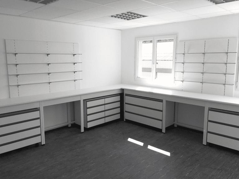 Aménagement et mobilier laboratoire
