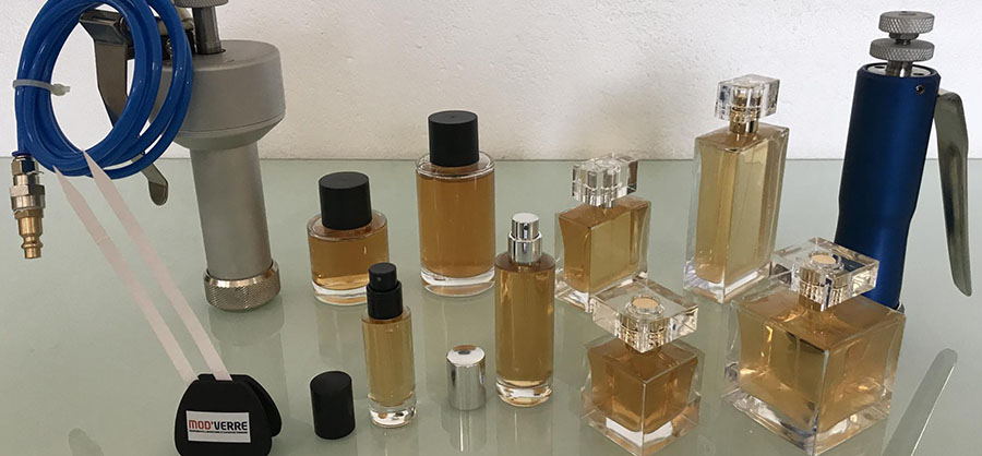 Flacon parfumerie à sertir